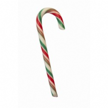 Red, White & Green Striped Peppermint Candy Cane